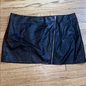 Misguided Faux Leather Mini Skirt